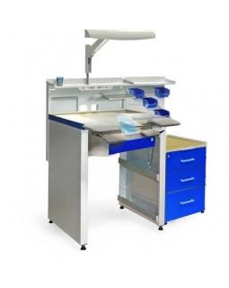 СЗТ 4.2 МАСТЕР КОМФОРТ - рабочее место зубного техника с вытяжкой, освещением, развитой системой хранения