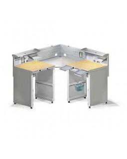 СЗТ 4.3 МАСТЕР КОНЕР - угловой стол для зубного техника на 2 рабочие зоны