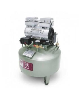 W-602 - безмасляный компрессор для одной стоматологической установки с ресивером 35 л (60 л/мин)