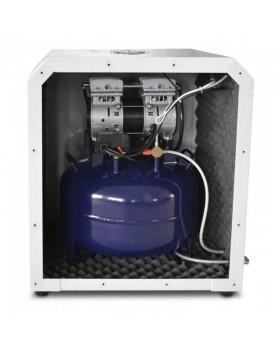 W-602 - безмасляный компрессор для одной стоматологической установки в шумоизоляционном кожухе, с ресивером 35 л (60 л/мин)