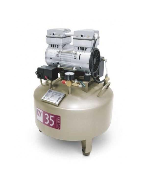 W-602B - безмасляный компрессор для одной стоматологической установки с ресивером 35 л (85 л/мин)