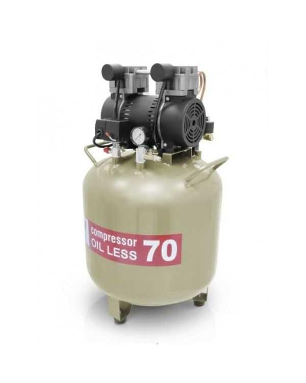 W-603 - безмасляный компрессор для двух стоматологических установок с ресивером 70 л (130 л/мин)