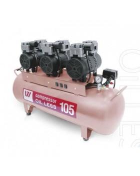 W-606 - безмасляный компрессор для 3-х стоматологических установок с ресивером 105 л (255 л/мин)
