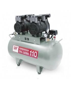 W-608 - безмасляный компрессор для 3-х стоматологических установок с ресивером 110 л (260 л/мин)
