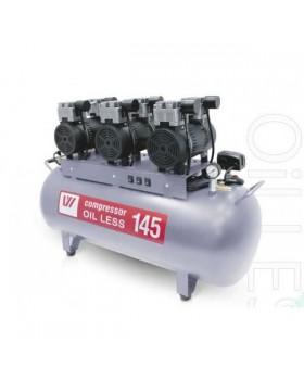 W-610 - безмасляный компрессор для 4-х стоматологических установок с ресивером 145 л (390 л/мин)
