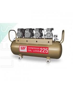 W-613 - безмасляный компрессор для 6-ти стоматологических установок с ресивером 225 л (500 л/мин)
