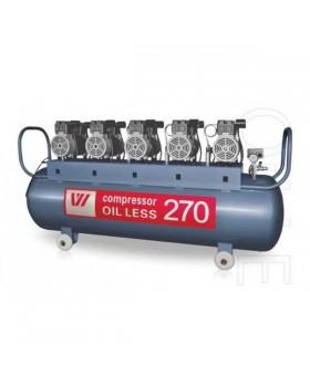 W-615 - безмасляный компрессор для 7-ми стоматологических установок с ресивером 270 л (600 л/мин)