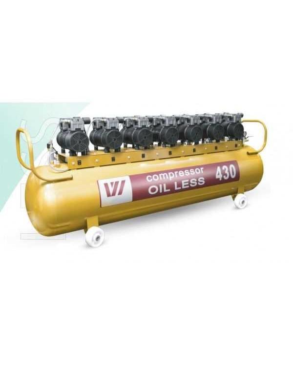 W-620 - безмасляный компрессор для 10-ти стоматологических установок с ресивером 430 л (900 л/мин)