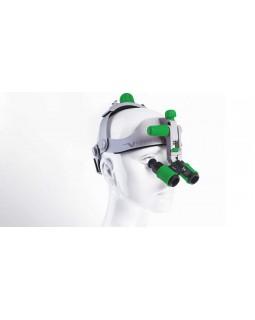 Headgear - бинокулярные лупы системы Flip-up с креплением на шлеме, рабочее расстояние 300-500 мм, увеличение 3.5x/4.5x/6.0x