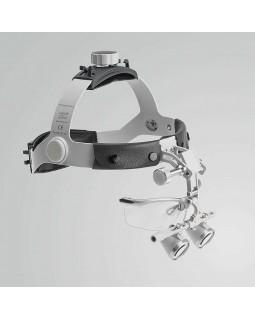 Heine HR 2,5x Set B - бинокулярные лупы с увеличением 2,5x и креплением на шлеме, с защитным щитком