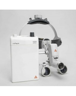 Heine ML4 LED HR 2.5x - налобный светодиодный осветитель ML4 LED в комплекте с бинокулярными лупами HR 2.5x и защитным щитком S-Guard
