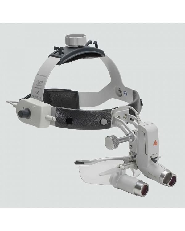 Heine ML4 LED HRP 3.5x - налобный светодиодный осветитель ML4 LED в комплекте с бинокулярными лупами HRP 3,5x и защитным щитком S-Guard