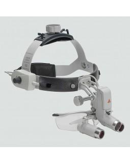 Heine ML4 LED HRP 4x - налобный светодиодный осветитель ML4 LED в комплекте с бинокулярными лупами HRP 4x и защитным щитком S-Guard