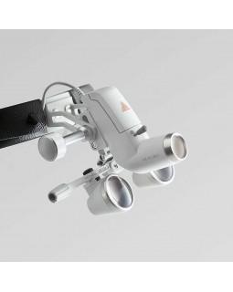 Heine ML4 LED UNPLUGGED HR 2.5x - налобный светодиодный осветитель ML4 LED UNPLUGGED в комплекте с бинокулярными лупами HR 2.5x и защитным щитком S-Guard