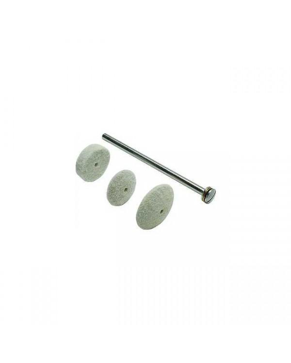 Войлочные диски Dia-Finish L, для полировки керамики и облицовки пластмасс, колёсико средней твердости, 12 шт.